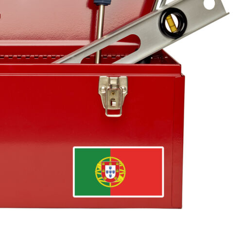 2 x 10cm Portugal Flag Vinyl Sticker iPad Laptop Car Travel Luggage Tag #5293