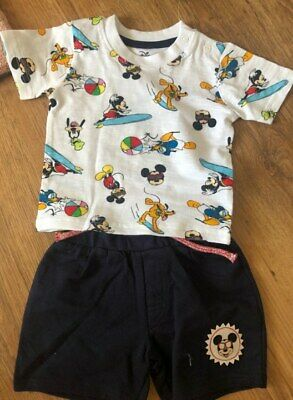 Age 3-6 Months BNWT Primark Boys Disney Mickey Mouse Shorts And T Shirt Set