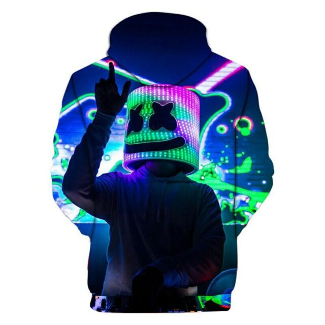 Kids Boys Hooded Hoodie Marshmello Sweatshirt Pullover Casual Jacket Coat Tops