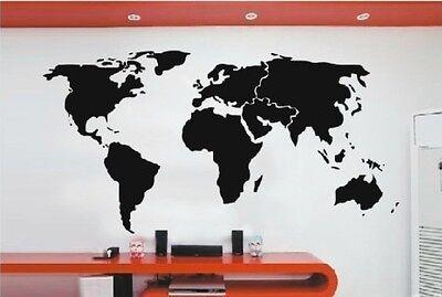 Wide 150CM Removable World Map Vinyl Wall Paper Decal Art Sticker X880