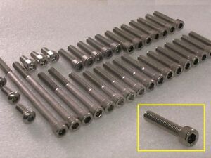 Honda-CBR600F-Hurricane-1987-90-Engine-Covers-Stainless-Steel-Allen-Bolts-kit