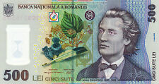 ROMANIA 500 Lei 2005 (2009) POLYMER PLASTIC Banknote P123 UNC ROMANIAN Eminescu