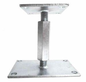 Pfostenträger höhenverstellbar Höhe 120-190 Gewinde M18 Stützenfuss Pfostenfuss