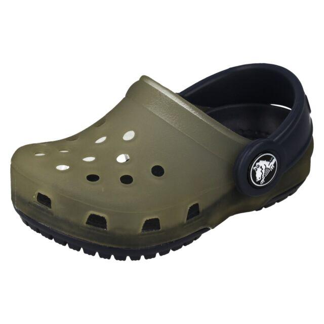 49f91612b3957 Childrens Crocs Slip on Chameleons Trnslcnt CLG K 4-5 UK Light Grey ...