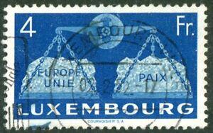 Lussemburgo n. 483 timbrato LUSSO PIENO timbro CEPT precursori used € 50,00