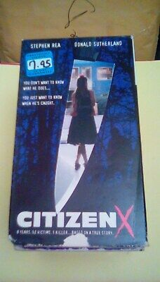 Citizen X Rare Hbo Original Movie 1995 Vhs Russia Serial Killer Rapist Forensics 26359118531 Ebay