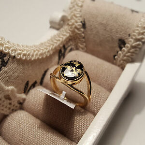 Stunning Goldenite Solitaire Ring in 14K Gold Over Sterling Silver  Size P - <span itemprop=availableAtOrFrom>Portsmouth, United Kingdom</span> - Returns accepted up to 14 days for refund, buyer pays return postage, we accept returns up to 21 days from the 25 December.[holiday period only]. Returns must have tags intact, there w - Portsmouth, United Kingdom