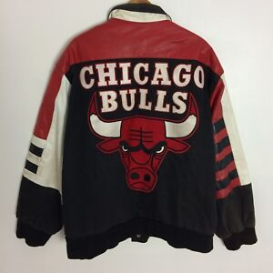 Details about Vintage 80's 90's CHICAGO BULLS Jeff Hamilton Leather Jacket Size 2XL Tall