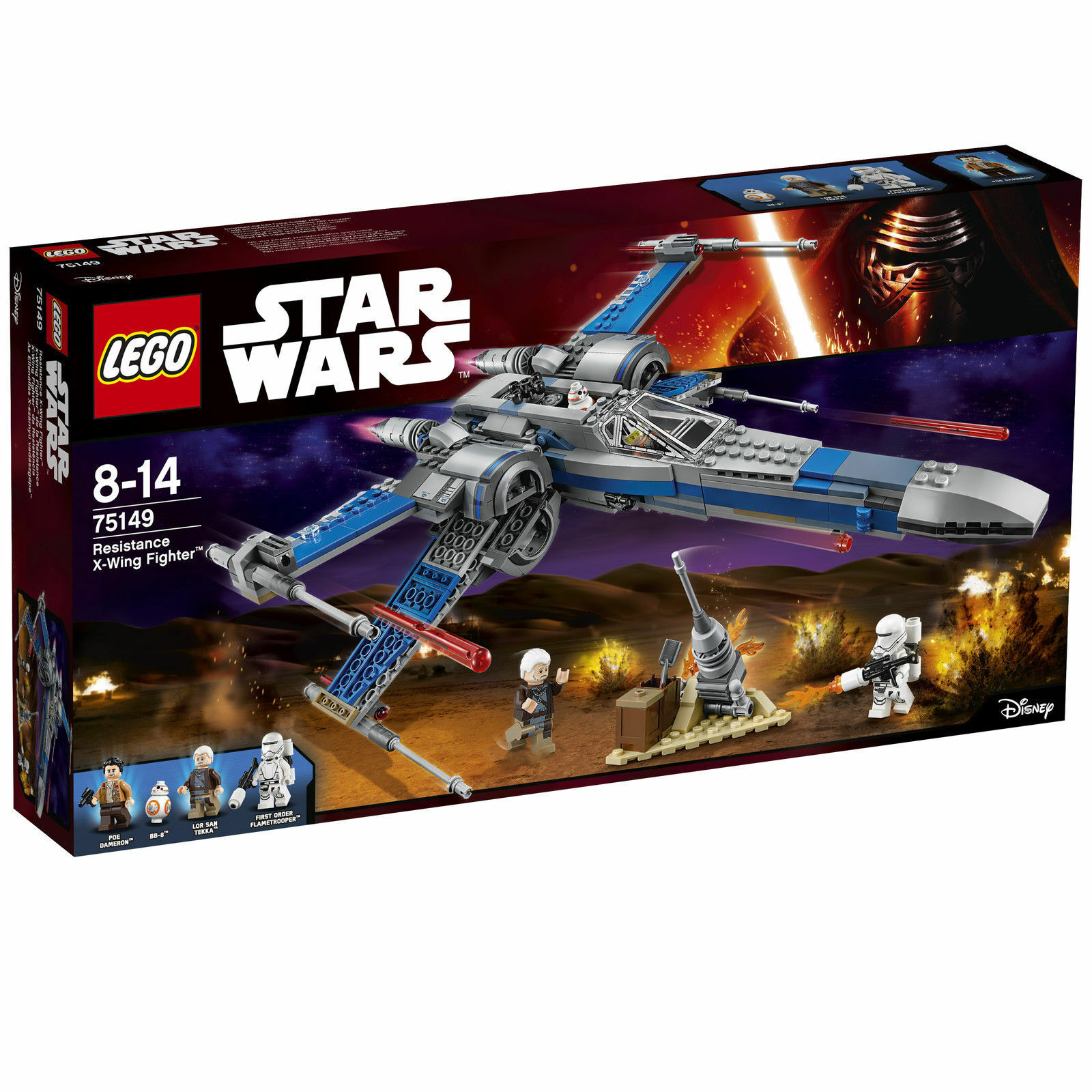 LEGO® Star Wars™ (75149) Resistance X-Wing Fighter™ inkl Versand NEU & OVP