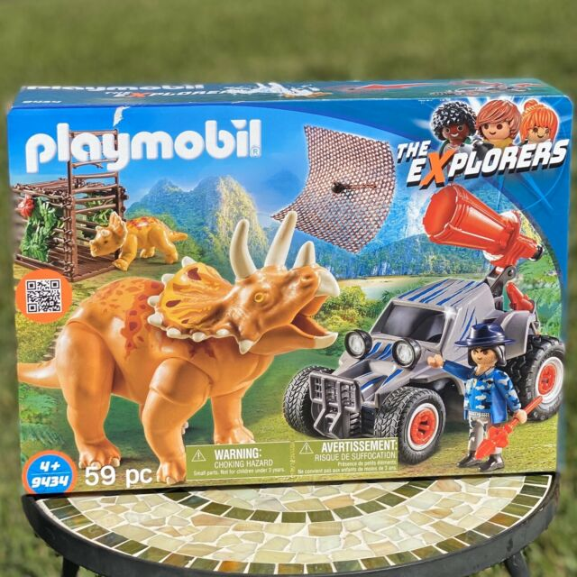 PLAYMOBIL 9434 The Explorers Enemy Quad W Triceratops Off-roader dino net NEW