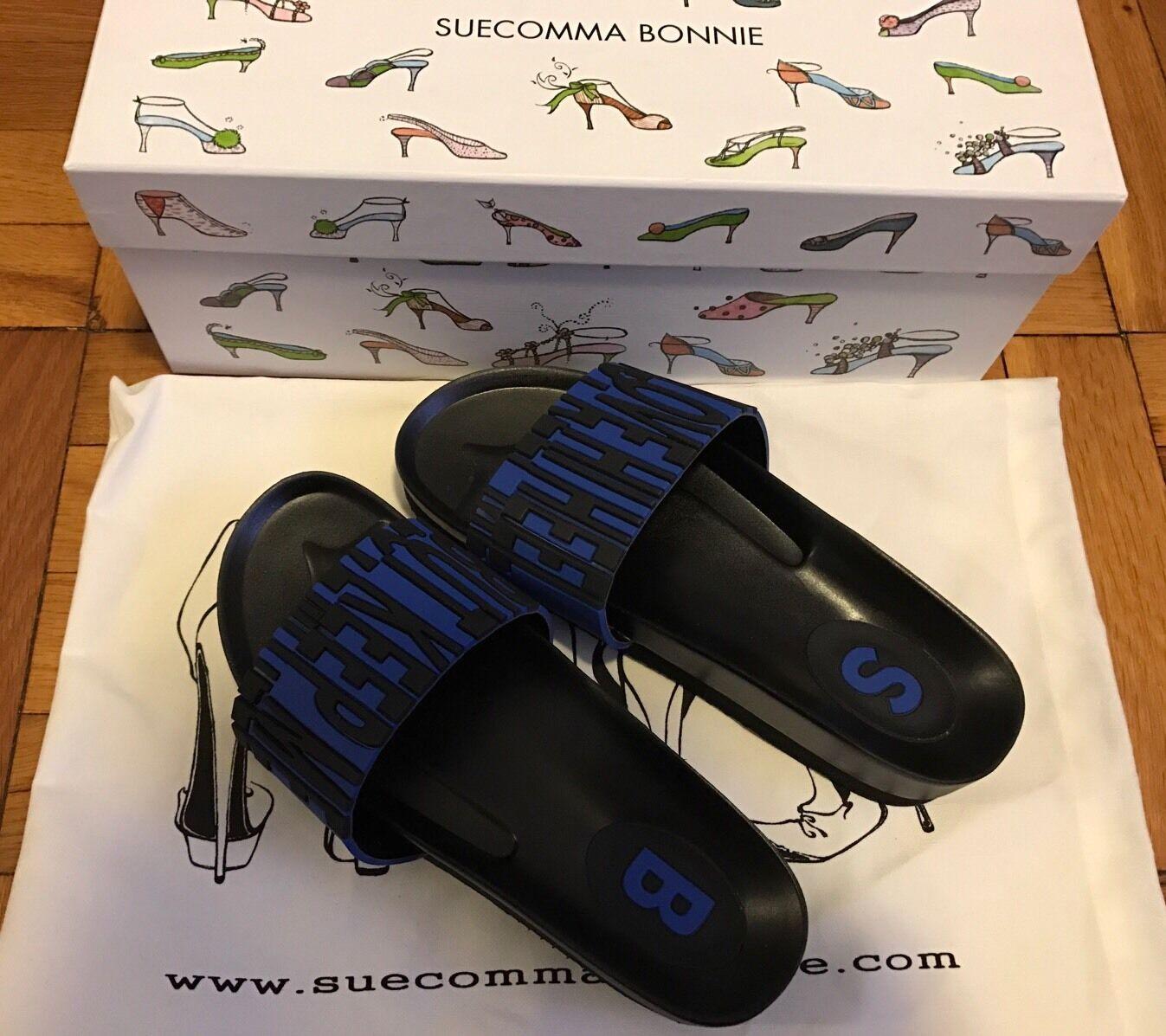 New SUECOMMA BONNIE BLACK & Blau Slippers Größe 36.5 36.5 36.5 92bc6f