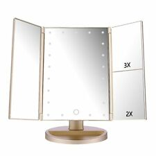 Easehold 21 LED Light Touch Screen Makeup Mirror Cosmetic Tabletop Vanity Mirror