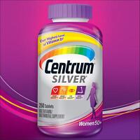 Centrum Silver Women 50+ Plus 250 Tablet Ultra Multivitamin One A Day Vitamin