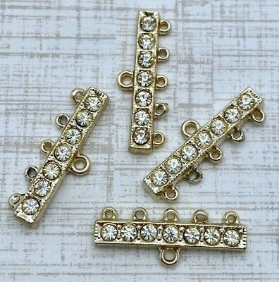 MP152 4 Vintage Brass Plated Chandelier Connectors