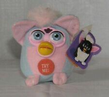 Furby Talking Keychain Plush Blue/Pink 1999 Original Tiger Electronics NWT