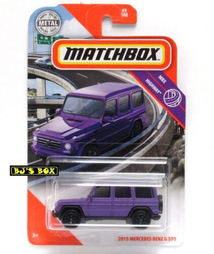 Matchbox 2020 2015 MERCEDES-BENZ G 550 49//100 Purple G-Wagon MBX Highway New