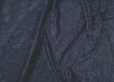 Navy Blue crushed velvet/velour fabric/material