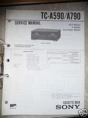 service manual sony tc a590 a790 tape deck original ebay. Black Bedroom Furniture Sets. Home Design Ideas