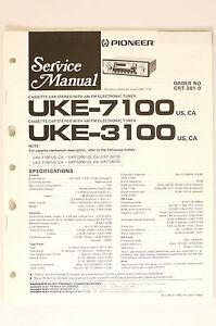 Tv, Video & Audio O65 Initiative Pioneer Uke-7100 Uke-3100 Original Service-manual/anleitung/schaltplan