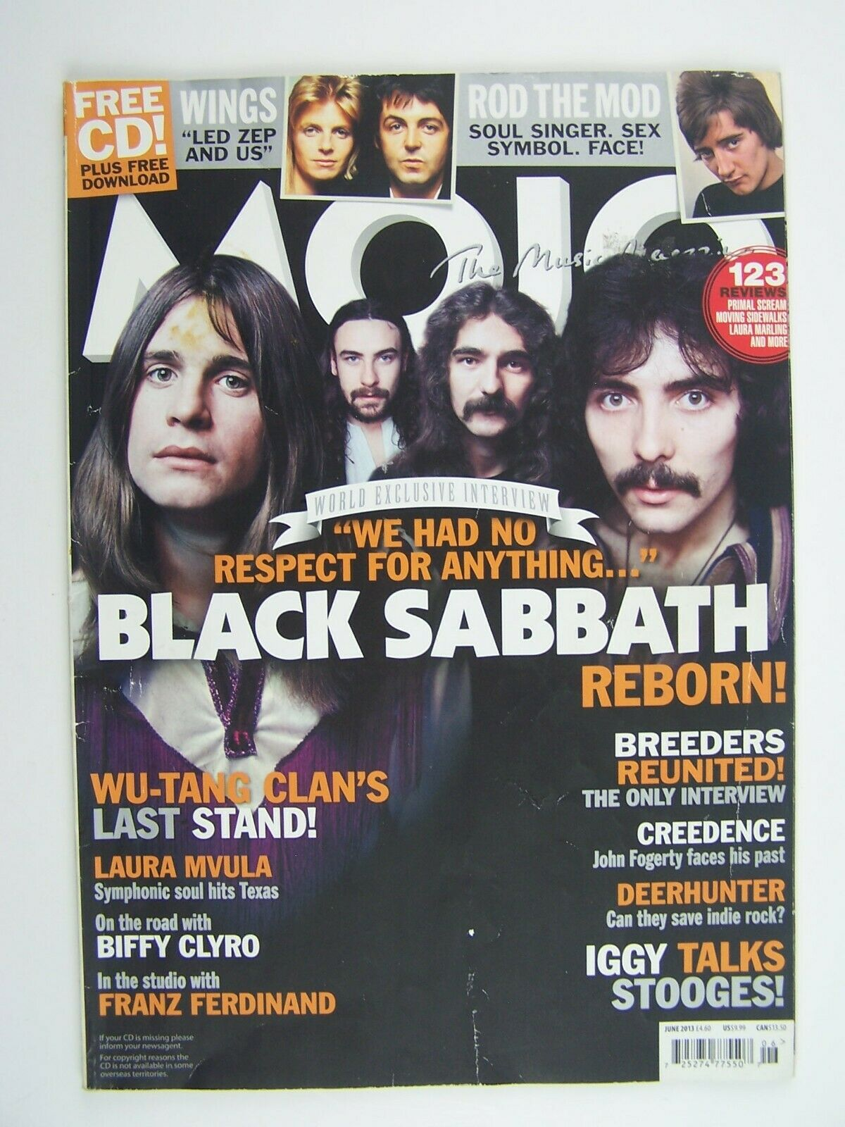 Mojo Magazine June 2013 Black Sabbath Cover