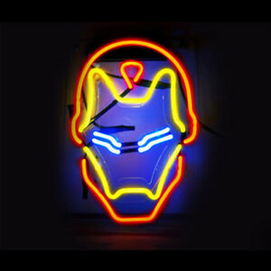 Image Is Loading Neon Light 034 Iron Man Signs Super