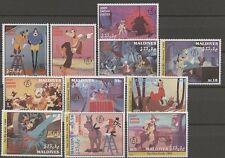 Walt Disney, Goofy - Malediven - 1817-1827 ** MNH 1992