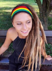 Image is loading Rastafarian-Headband-Rasta-Headband-Reggae-Dreadlocks-Mens -Girls- c6f81ea9f16