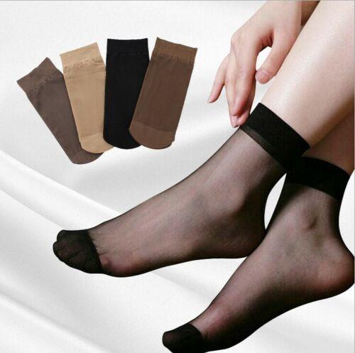 10 x Pairs 4-7 Ladies 20 DENIER Sheer Ankle High Trouser Pop Socks ONE SIZE