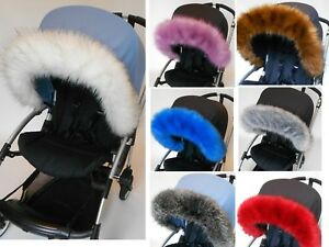 Pram-Fur-hood-trim-for-pram-iCandy-bugaboo-silvercross-universal-fit