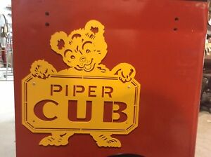 Piper Cub metal signs