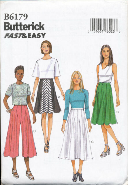 2015 Butterick Sewing Pattern 6179 Misses Sz 6-14 Easy Flared Skirts ...