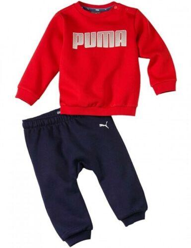 Infants Puma Red//Navy Fleece Tracksuit 12-18 Months