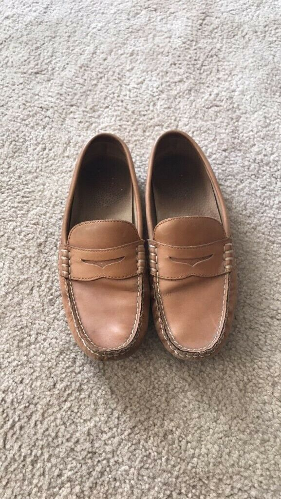 Polo Ralph Lauren Driving Penny Loafers Leather Slip On Men 9.5