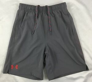 Under Armour MEN'S Athletic Basketball Shorts Loose HeatGear Gray 1291323 Size S