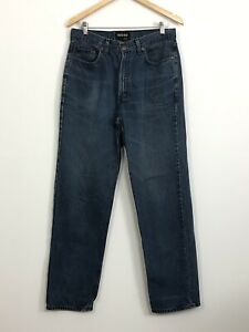 COUNTRY-ROAD-WORKWEAR-Mens-Vintage-Blue-Straight-Leg-Cotton-Denim-Jeans-Size-32
