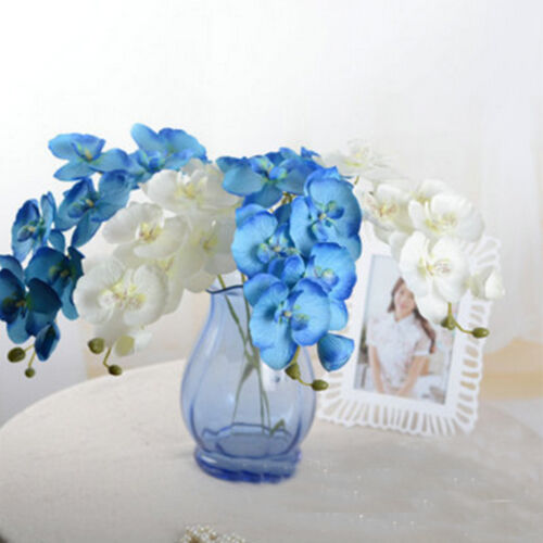 1 Pcs Elegant 8 Head Simulation Phalaenopsis Bonsai Home Decoration Bouquet
