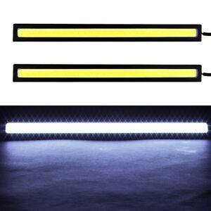 2x-Super-Bright-COB-White-Car-LED-Lights-12V-for-DRL-Fog-Driving-Lampe-Verkauf