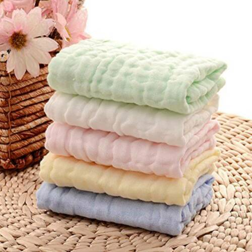 Small Saliva Towel Cotton Soft Baby Bibs Face Cloth Hand Towels Wipes Square KV