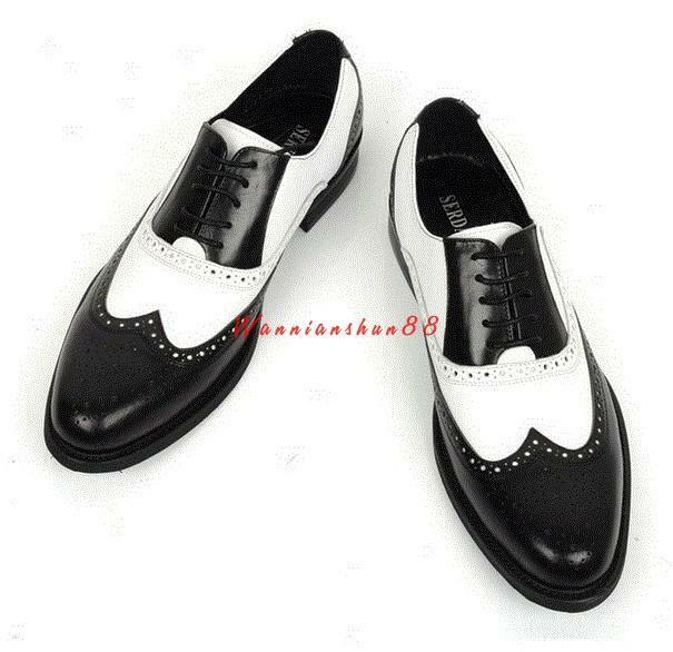 Uomo British Wing Tip Carved Casual Dress Shoes Pelle Brogue Lace Up Punk new