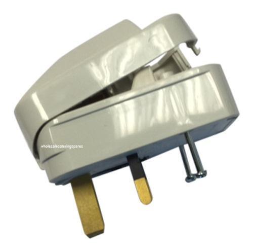 Blanc 13 A FONDUE UE UK Plug Convertisseur