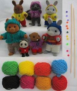 PLAYING-knitting-KIT-all-you-need-for-Sylvanian-Families-original-pattern