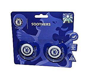 Chelsea FC officiel produit bébé Sucettes Pack de deux neuf scellé