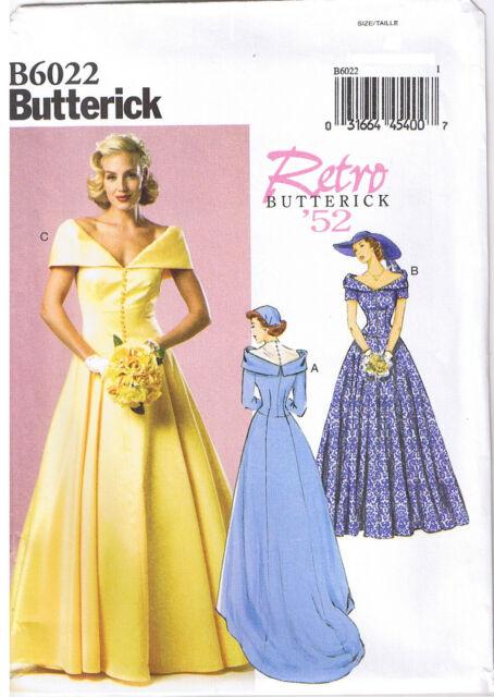 Butterick Retro 52 Sewing Pattern Misses\' Bridal Dress Dresses Size ...
