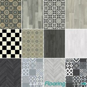 Phenomenal Details About Non Slip Vinyl Flooring Grey Wood Moroccan Tile Effect Kitchen Bathroom 2 3 4M Home Interior And Landscaping Ologienasavecom