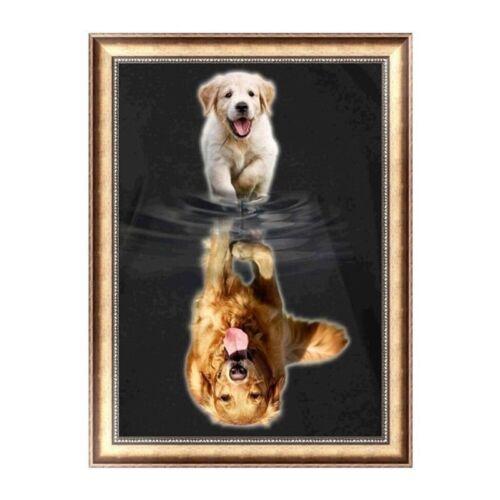 DIY 5D Diamond Embroidery Little Dog Painting Stitch Art Craft Home Decor F7S8