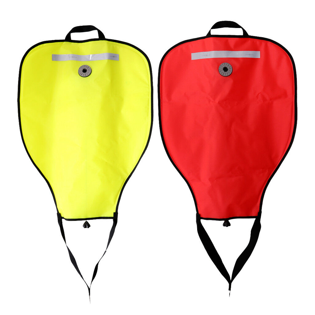 2x High Visibility Reflective Scuba Dive 50lbs Lift Bag SMB Safe Marker Buoy