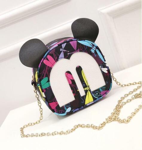 Medium Kid Girls Mickey Head dragonfly handbag Shell Tote Bag Cross-body Purse