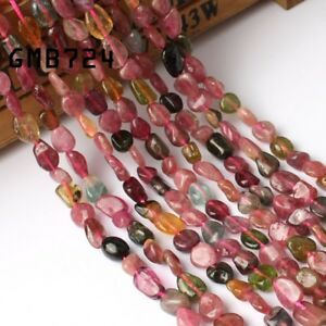 5-8mm-Natural-Gemstone-Freeform-Colorful-Tourmaline-Beads-for-Jewelry-Making