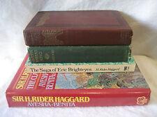 H Rider Haggard vintage fantasy book lot CLEOPATRA Queen Sheba Eric Brighteyes !