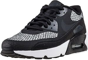Details zu Nike Air Max 90 Ultra 2.0 SE GS Boys Girls Women's Trainers Shoes BlackGrey